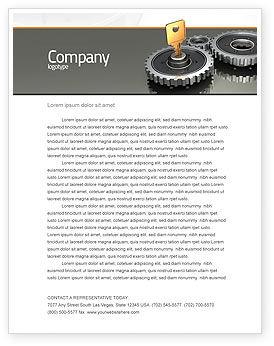 Business Concepts: Plantilla de membrete - tecla para bloquear el mecanismo #04966
