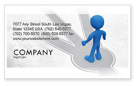 Consulting: Choosing Way Business Card Template #04967