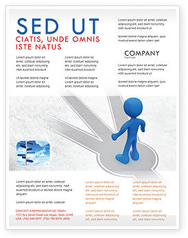 Choosing Way Flyer Template, 04967, Consulting — PoweredTemplate.com