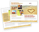 Holiday/Special Occasion: Hart Op Zand Brochure Template #04969