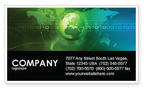 Global: Web Over The Earth Business Card Template #04970