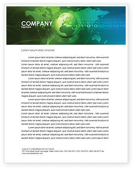 Global: Web Over The Earth Letterhead Template #04970
