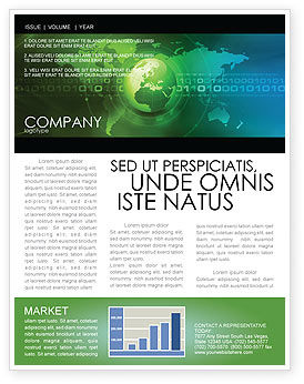 Web Over The Earth Newsletter Template, 04970, General — PoweredTemplate.com