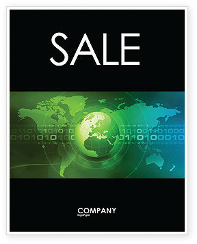 Global: Web Over The Earth Sale Poster Template #04970