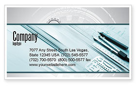 Working Drawings Business Card Template, 04971, Careers/Industry — PoweredTemplate.com