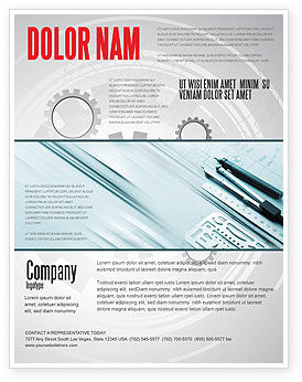 Working Drawings Flyer Template, 04971, Careers/Industry — PoweredTemplate.com