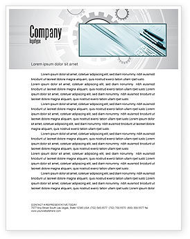 Working Drawings Letterhead Template, 04971, Careers/Industry — PoweredTemplate.com
