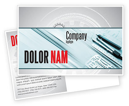 Careers/Industry: Working Drawings Postcard Template #04971