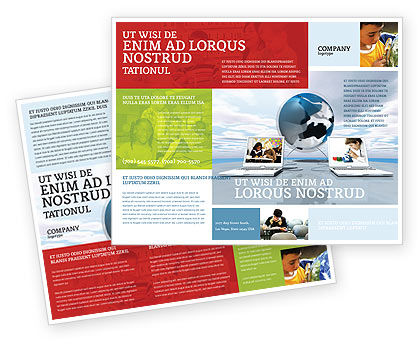 training brochure template - education and computer brochure template design and layout