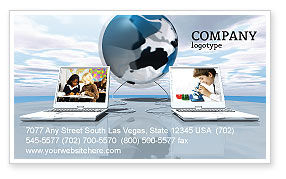 Education and computer business card template layout download education and computer business card template 04976 education training poweredtemplate accmission