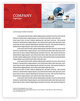 Education and Computer Letterhead Template, 04976, Education & Training — PoweredTemplate.com