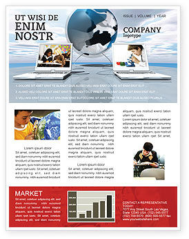 Education & Training: Education and Computer Newsletter Template #04976