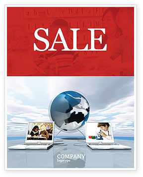 Education and Computer Sale Poster Template, 04976, Education & Training — PoweredTemplate.com