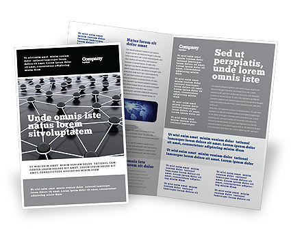 Technology, Science & Computers: Particles Brochure Template #04977