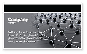 Technology, Science & Computers: Particles Business Card Template #04977