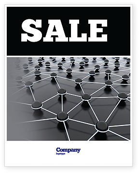 Particles Sale Poster Template, 04977, Technology, Science & Computers — PoweredTemplate.com