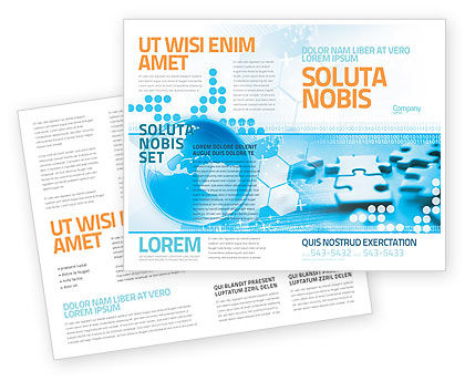 World Integrity Brochure Template, 04979, Business Concepts — PoweredTemplate.com