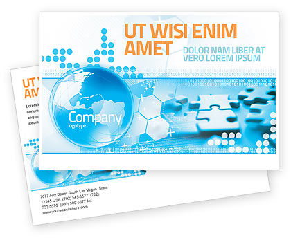 Business Concepts: World Integrity Postcard Template #04979