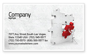 Consulting: Inserting Missing Part Business Card Template #04980