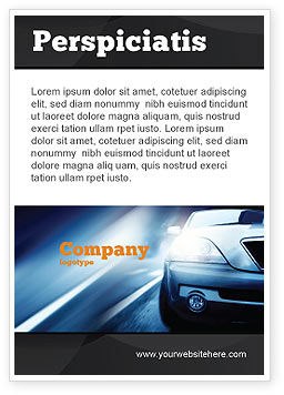 Car On the Road In Twilight Ad Template