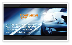 Car On the Road In Twilight Business Card Template, 04982, Cars/Transportation — PoweredTemplate.com