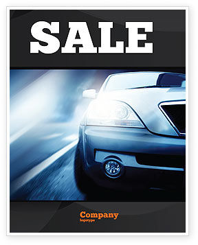 Cars/Transportation: Car On the Road In Twilight Sale Poster Template #04982