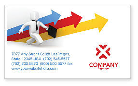 Consulting: Business Indicators Rising Business Card Template #04985