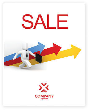Consulting: Business Indicators Rising Sale Poster Template #04985