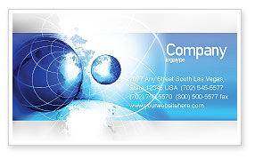 General: Two Worlds Business Card Template #04987