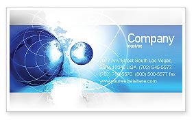 General: Plantilla de tarjeta de visita - dos mundos #04987