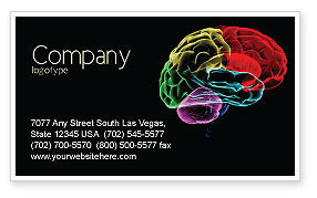 Brain Centers Business Card Template, 04990, Medical — PoweredTemplate.com