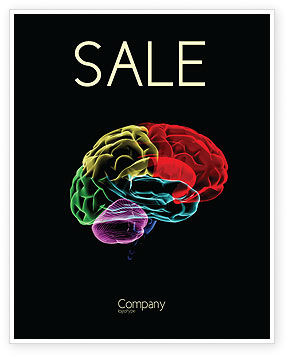 Brain Centers Sale Poster Template, 04990, Medical — PoweredTemplate.com