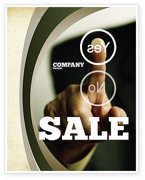 Business Concepts: Yes No Questions Sale Poster Template #04992