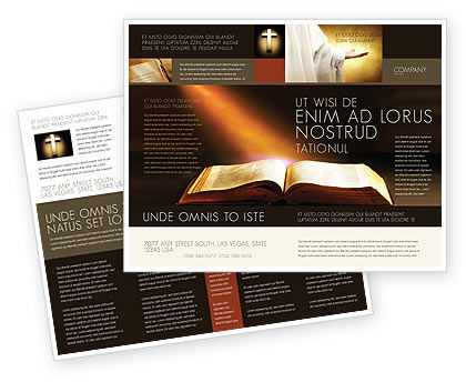 Holy Scripture Brochure Template Design And Layout, Download Now