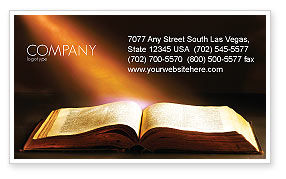 Holly Book Business Card Template