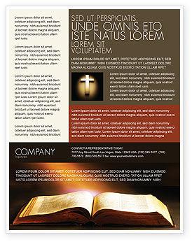 Religious/Spiritual: Plantilla de volante - libro de acebo #04995