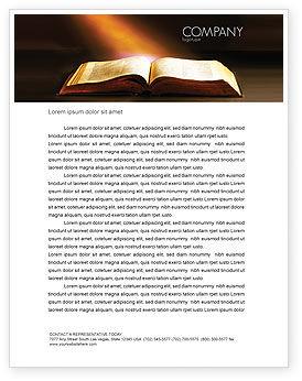 Religious/Spiritual: Plantilla de membrete - libro de acebo #04995