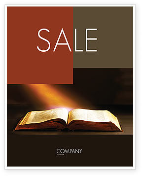 Holly Book Sale Poster Template, 04995, Religious/Spiritual — PoweredTemplate.com