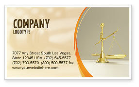 Legal: Fairness Business Card Template #04996