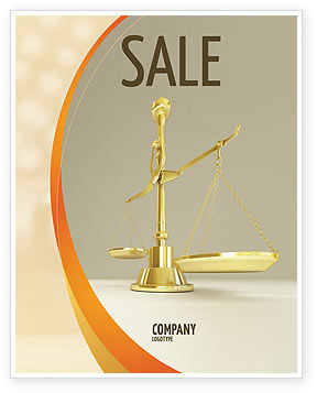Legal: Fairness Sale Poster Template #04996