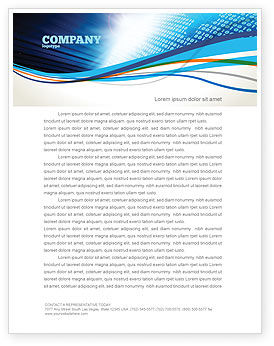 Telecommunication: World In Digits Letterhead Template #04997