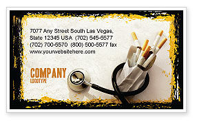 Smoking Kills Business Card Template, 05004, Medical — PoweredTemplate.com