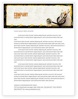 Smoking Kills Letterhead Template
