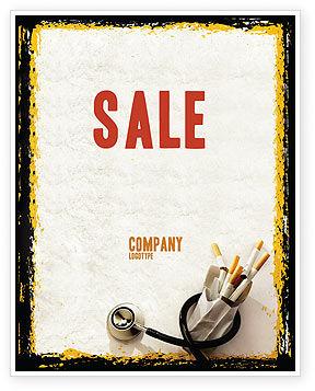 Medical: Smoking Kills Sale Poster Template #05004