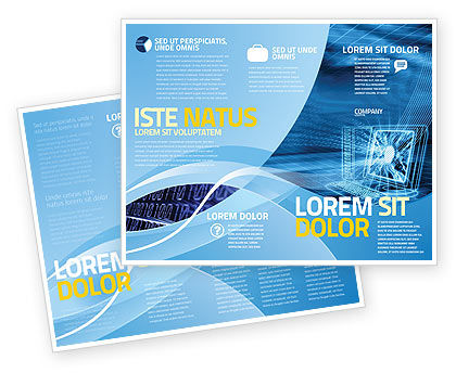 Personal Computer Wired Model Brochure Template Design And Layout