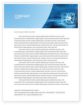 Technology, Science & Computers: Personal Computer Wired Model Letterhead Template #05007