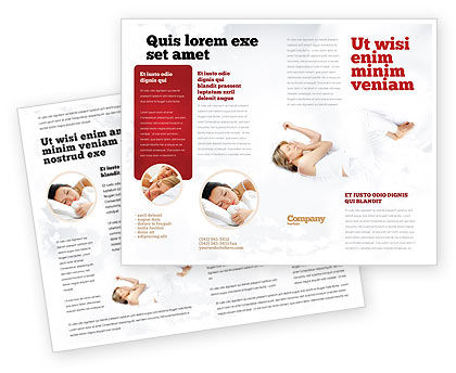 Bedtime Brochure Template, 05010, Medical — PoweredTemplate.com