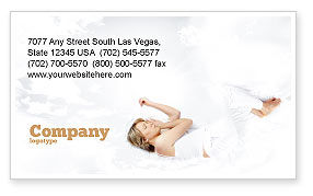 Bedtime Business Card Template, 05010, Medical — PoweredTemplate.com