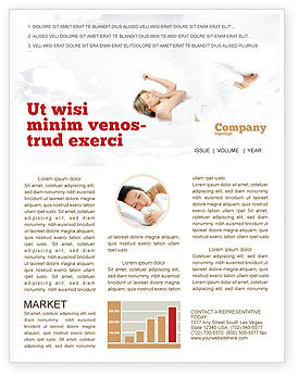 Bedtime Newsletter Template, 05010, Medical — PoweredTemplate.com