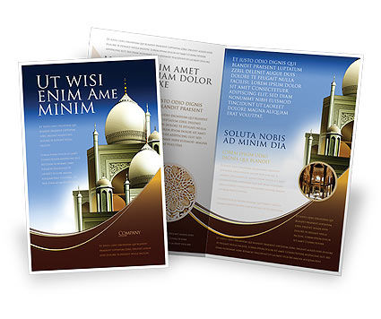 Islamic Architecture Brochure Template, 05013, Religious/Spiritual — PoweredTemplate.com